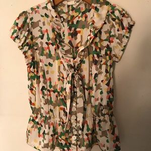 Nick & Mo Tie Front Blouse